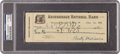 Autographs:Checks, 1923 Christy Mathewson Signed Check, PSA/DNA Authentic. ...