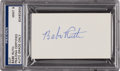 Autographs:Others, Circa 1940 Babe Ruth Ballpoint Pen Signed Blank Business Card PSAMint 9. ...