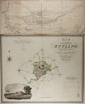 """Books:Maps & Atlases, [Antique Maps] Lot of Two Antique Maps. 25.5"""" x 10.5"""" and 32"""" x 25.5"""". Both removed from larger volumes. Includes maps title..."""