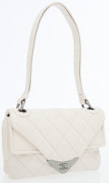 Luxury Accessories:Bags, Chanel Beige Quilted Lambskin Leather Double Flap Envelope Bag withGunmetal Hardware. ...