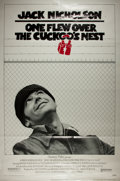 """Books:Prints & Leaves, [Movie Poster] One Flew Over the Cuckoo's Nest One SheetMovie Poster. 27"""" x 40"""", copyright 1975 by Fantasy Film..."""