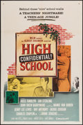 "Movie Posters:Exploitation, High School Confidential (MGM, 1958). One Sheet (27"" X 41"").Exploitation.. ..."