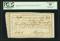 Colonial Notes:Connecticut, Connecticut Interest Payment Certificate. February 27, 1792. Cut Cancelled. PCGS Extremely Fine 45.. ...