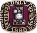 Basketball Collectibles:Others, 1990 UNLV Runnin' Rebels National Championship Ring. ...