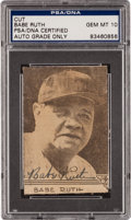 Autographs:Photos, Late 1940's Babe Ruth Signed Newspaper Photograph, PSA/DNA Gem Mint10....