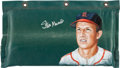 Autographs:Others, Circa 2010 Stan Musial Signed Original Artwork by Lisa Ober on Busch Stadium Padding....