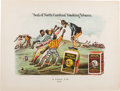 "Baseball Collectibles:Others, 1882 Black Americana Baseball Advertising Print by ""Currier &Ives.""..."