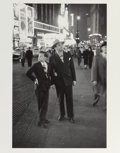 Photographs:Gelatin Silver, LOUIS FAURER (American, 1916-2001). Times Square, NYC, 1947.Gelatin silver, printed later. 12-7/8 x 8-1/2 inches (32.7 ...