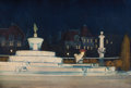 Fine Art - Painting, American:Modern  (1900 1949)  , EZRA WINTER (American, 1886-1949). The Pulitzer Fountain, GrandArmy Plaza, Manhattan, 1919. Watercolor on paper. 20 x 2...