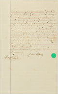Autographs:Others, 1878 Alexander Cartwright Signed Document. ...