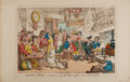 Books:Prints & Leaves, [Color-Plate]. Thomas Rowlandson. Doctor Syntax London:Tegg, [n.d., ca. 1811]. Hand-colored plate. Approximatel...