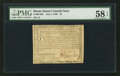 Colonial Notes:Rhode Island, Serial Number 12 Fully Signed Rhode Island July 2, 1780 $1 PMGChoice About Unc 58 EPQ.. ...