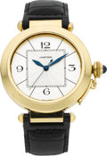 "Timepieces:Wristwatch, Cartier Ref. 2726 ""Pasha Jumbo"" 18k Yellow Gold Automatic. ..."