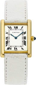 Timepieces:Wristwatch, Cartier Gold Tank Wristwatch. ...