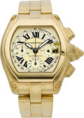 Timepieces:Wristwatch, Cartier Ref. 2619 Gold Roadster Chronograph Automatic. ...