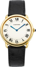"Timepieces:Wristwatch, Cartier Ref. 0900 1 Gold ""Louis Cartier Ronde Solo"" Gent'sWristwatch, circa 1994. ..."