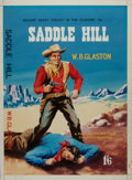 Books:Original Art, [Original Western Pulp Art]. Original Watercolor/Gouache Painting for the Cover of Saddle Hill by W. B. Glaston. ...