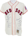 Baseball Collectibles:Uniforms, 1999 Baseball All Century Team Multi Signed Ted Williams Jersey. ...
