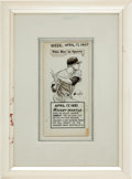 "Baseball Collectibles:Others, 1967 Mickey Mantle ""This Day In Sports"" Original Artwork by LennyHollreiser...."