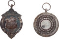 """Miscellaneous Collectibles:General, 1927-28 Helen Wills """"Prince of Wales General Hospital"""" Presentational Silver Medals Lot of 2...."""