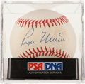 Autographs:Baseballs, 1980's Roger Maris Single Signed Baseball, PSA/DNA NM 7....
