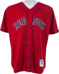 Baseball Collectibles:Uniforms, 2004 Curt Schilling Game Worn Boston Red Sox Jersey. ...