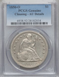 Seated Dollars, 1850-O $1 -- Cleaning -- PCGS Genuine. AU Details....