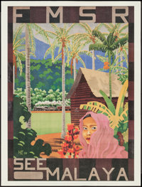 """Singapore and Malaya Travel Posters (Raffles Hotels, 1960s). Travel Posters (2) (18"""" X 26""""). Miscellaneous..."""