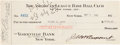 Autographs:Checks, 1925 Waite Hoyt Signed New York Yankees Payroll Check....