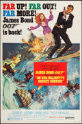 "Movie Posters:James Bond, On Her Majesty's Secret Service (United Artists, 1970). Poster (40""X 60""). James Bond.. ..."