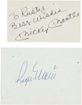 Baseball Collectibles:Others, 1980's Signed Cut Collection With Maris & Mantle. ...