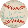Baseball Collectibles:Balls, 1958 New York Yankees Team Signed Baseball. ...