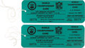 Football Collectibles:Tickets, 1967 Super Bowl I Unused Participant's Passes Lot of 2 - With Provenance from Coliseum Staffer! ...