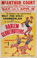 Basketball Collectibles:Others, 1958 Harlem Globetrotters Featuring Wilt Chamberlain Broadside. ...