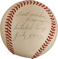 Baseball Collectibles:Balls, 1971 Satchel Paige Single Signed Baseball. ...