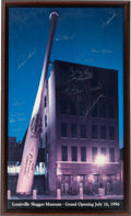 Baseball Collectibles:Photos, 1996 Louisville Slugger Museum Multi Signed Photo From Stan MusialCollection. ...