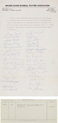 Autographs:Others, 1965 Milwaukee Braves Team Signed Sheet....