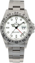Timepieces:Wristwatch, No Shipping into the U.S. - Rolex Ref. 16570 Steel Explorer II. ...