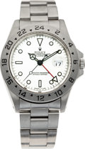 Timepieces:Wristwatch, No Shipping into the U.S. - Rolex Ref. 16570 Steel Explorer II,circa 1991 . ...