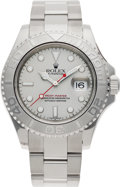 Timepieces:Wristwatch, No Shipping into the U.S. - Rolex Ref. 16622 Gent's Steel Yacht-Master Wristwatch, circa 1999 . ...