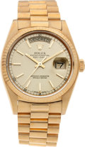 Timepieces:Wristwatch, No Shipping into the U.S. - Rolex Ref. 18038 Gent's Gold President,circa 1979. ...