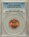 Lincoln Cents: , 1995 1C Doubled Die Obverse MS67 Red PCGS. PCGS Population(2789/2663). NGC Census: (9655/6247). Numismedia Wsl. Price for...