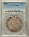 Bust Half Dollars: , 1821 50C VF30 PCGS. PCGS Population (35/605). NGC Census: (26/550).Mintage: 1,305,797. Numismedia Wsl. Price for problem f...