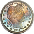 Proof Barber Quarters, 1911 25C PR68 Cameo PCGS. CAC....