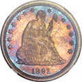 Proof Seated Quarters, 1891 25C PR67 NGC....
