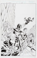 Original Comic Art:Covers, Steve Scott and Walden Wong New Warriors #0 Cover OriginalArt (Marvel, 1999)....