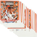 Baseball Collectibles:Photos, 1978 Cardinals & Anheuser Busch Commemorative Print Lot of 76....