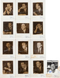 Baseball Collectibles:Photos, 1960's Stan Musial Signed Personal Photos From Alfred Fleishman....