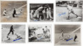 Baseball Collectibles:Photos, Stan Musial Signed Original Press Photographs Lot of 32....