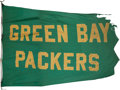 Football Collectibles:Others, 1960's Green Bay Packers Flag Flown Over Lambeau Field....